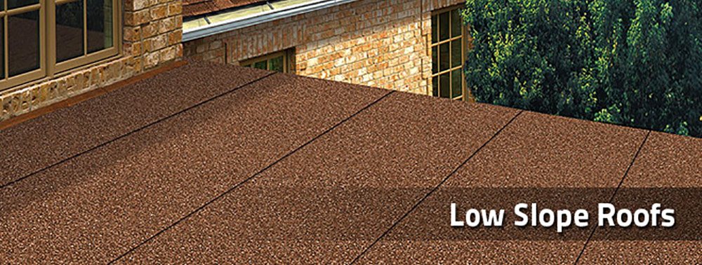 Low slope roofs universal contracting Low pitched roof